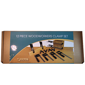 12 Piece Woodworkers Clamp Set